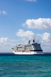 Cruise ship. (Celebrity Solstice) docked at the island of Lifou - Loyality Island New Caledonia, because the island does not have a big dock the ship is relying Stock Photography