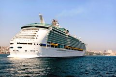 Cruise ship close to Istanbul Royalty Free Stock Images