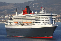 Cruise Ship closeup Cunard's QEII Queen Elizabeth II Stock Images