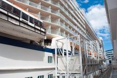 Cruise Ship Closeup Stock Photos