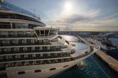 Cruise Ship Closeup Sunset Royalty Free Stock Photo
