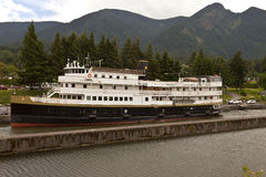 Cruise ship in the Columbia River Gorge Oregon. Stock Photography