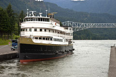Cruise ship in the Columbia River Gorge Oregon. Stock Images