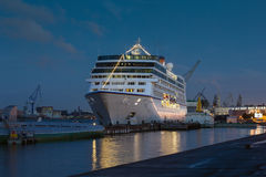 Cruise Ship Columbus 2 on the Neva River Stock Image
