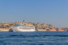 Cruise ship Columbus 2 in Istanbul Royalty Free Stock Photography