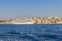 Cruise ship Columbus in Istanbul Royalty Free Stock Photo