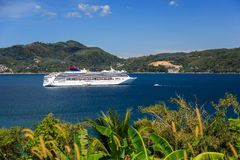Cruise Ship Come To Phuket, Thailand Stock Photos