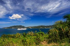 Cruise Ship Come To Phuket, Thailand Royalty Free Stock Images