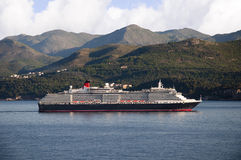 Cruise ship coming into Dubrovnic in Croatia Stock Photography
