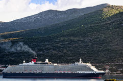 Cruise ship coming into Dubrovnic in Croatia Stock Images