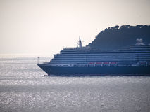 Cruise ship coming into Dubrovnic in Croatia Royalty Free Stock Images