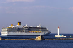 Cruise ship Costa Deliziosa came into the port of Odessa Royalty Free Stock Photography