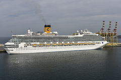 Cruise Ship Costa Fortuna in the Harbour of Muscat, Oman Royalty Free Stock Photo