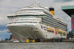 Cruise ship Costa Fortuna stands in the passenger terminal of Am Stock Image