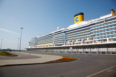 Cruise ship Costa Luminosa docked at port Royalty Free Stock Photo