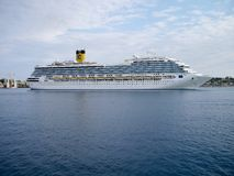 Cruise Ship Costa Magica in harbour at Corfu Royalty Free Stock Photography