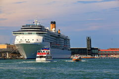 Cruise Ship Costa Mediterranea in port of Venice, Italy Stock Photography