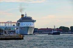 Cruise ship Costa Mediterranea in Venice, Italy Royalty Free Stock Image