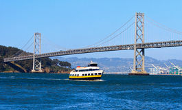 Cruise ship crossing San Francisco bay Stock Photo