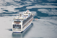 Cruise ship Crown Princess in fjord, Geiranger (Norway) Stock Photos