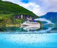 Cruise Liners On Geiranger fjord, Norway stock image