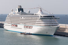 Cruise Ship Crystal Serenity. Docked in Civitaveccia, Italy. Ibero Cruceros Royalty Free Stock Images