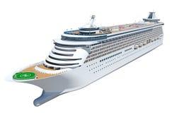 Cruise Ship. 3D generated cruise ship, illustration royalty free illustration