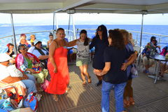 Cruise ship dancing party women Royalty Free Stock Photo