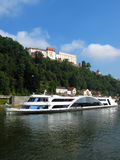 Cruise ship on Danube river Royalty Free Stock Image