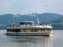 Cruise ship on Danube river near Passau, Germany Stock Images