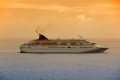 Cruise ship at dawn Stock Photos