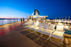 Cruise ship deck. Upper deck of a cruise ship in Alaska Royalty Free Stock Images