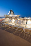 Cruise ship deck. Upper deck of a cruise ship in Alaska Royalty Free Stock Photos