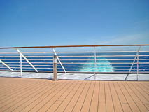 Cruise Ship Deck. With sea view stock photography