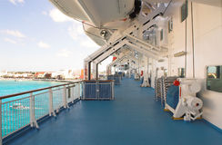 Cruise Ship Deck. A disserted cruise ship deck Royalty Free Stock Photo