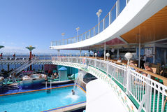 Cruise Ship Deck. On deck of the Norwegian Cruise Line Pearl Royalty Free Stock Photography