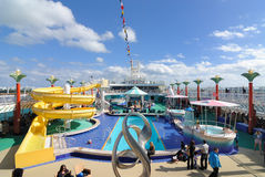 Cruise Ship Deck. On deck of the Norwegian Cruise Line Pearl Royalty Free Stock Photo