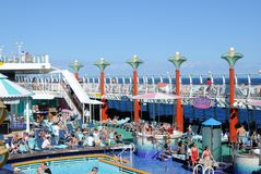 Cruise Ship Deck Stock Image