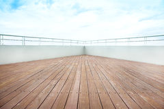 Cruise ship deck Stock Images