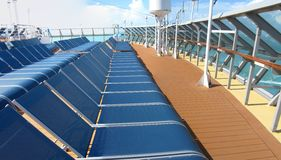 Cruise ship deck Stock Photography