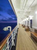 Cruise Ship Deck as the Sun Sets. Cruise Ship Deck at Dusk, as the Sun Sets Royalty Free Stock Photo