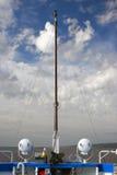 Cruise ship deck, blue sky panorama Royalty Free Stock Image