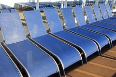 Cruise Ship Deck Chair Line-Up Stock Image