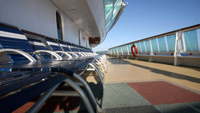 Cruise Ship Deck with Chairs Stock Image