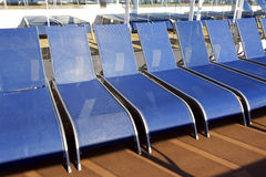 Cruise Ship Deck Chairs Royalty Free Stock Photography