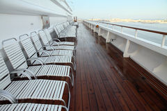 Cruise Ship Deck Chairs Stock Images