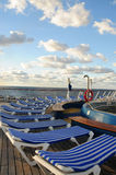 Cruise ship deck chairs Stock Image