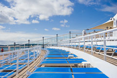 Cruise Ship Deck Chairs Royalty Free Stock Photo