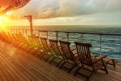 Cruise Ship Deck Chairs Stock Photos