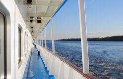 Cruise ship deck Royalty Free Stock Images